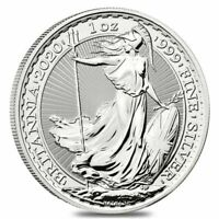 2020 Great Britain 1 oz Silver Britannia Coin .999 Fine BU - IN-STOCK!!