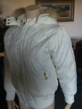 Baby Phat Puffy Jacket White Size Large Mint Condition