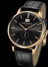 orologio LOCMAN 1960 DOLCE VITA watch 0252V09-RGBKRGPK QUARZO UOMO PELLE nera
