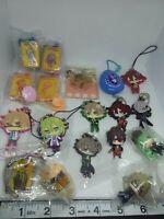 18pc Amnesia otome figure keychain strap charm pin badge anime Japan kawaii lot