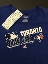 MLB Torondo Blue Jays Majestic Authentic Collection Womens T Shirt Size XL NWT