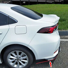Unpainted For TOYOTA Corolla Altis 12th MF Rear Side Bumper Lip Spoiler Splitter