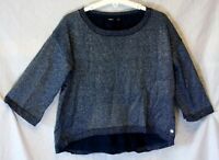 Girls Mexx Blue Silver Sparkly Thin Knit 3/4 Sleeve Jumper Age 10-11 Years