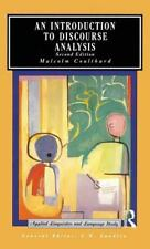 Applied Linguistics and Language Study: An Introduction to Discourse Analysis...
