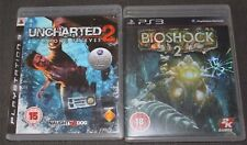 Uncharted 2 & Bioshock 2 (PAL PS3 GAMES) Good Condition! Great Gift!