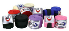 "Fairtex Elastic Cotton Handwraps HW2 Full Length 180"" Hand Wraps Black Red Blue"