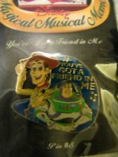 Disney Magical Musical Buzz Woody Friend Song Pin New