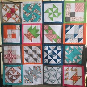 """Patchwork Sample Quilt Top Kit w/ Instructions 39"""" Square For Beginners"""