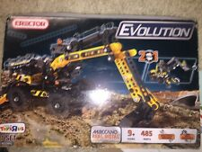 Erector 2-in-1 New Set By Evolution Ages: 9+ 485 Parts Tools to Build Both 2014