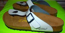 Papillio by Birkenstock Gizeh Sandals womens 41 M 10 - 10.5 * pretty pale gray