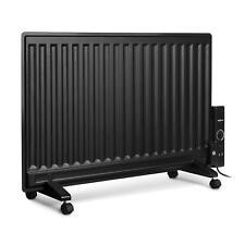 Radiador Aceite Calefacción Estufa Portátil Eléctrica Ruedas Pared Plana Calor