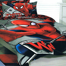 Spiderman Marvel Web Warriors Red Double/US Full Bed Quilt Doona Duvet Cover Set