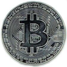 Moneta Fisica Bitcoin (BTC) in Rame Placcata Argento 1 OZ Silver CASASCIUS 2013