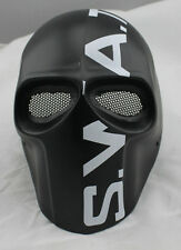 New Black Fiberglass Resin Mesh Eye Airsoft Paintball Full Face Protection Mask