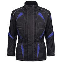 Motorradjacke Herren Textil Jacke Cordura Roller Schwarz Blau Gr. M bis 6XL 777