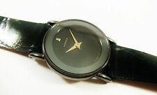 Lassale by Seiko Black Tone Metal 1F20-2G60 Calfskin Sample Watch NON-WORKING