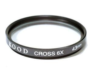 43mm Kood High Quality Glass Starburst x6 Filter Made in Japan Star 6 Filter 6PT