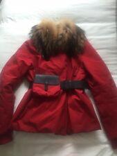 Prada Coat Raccoon Fur Collar Size 42