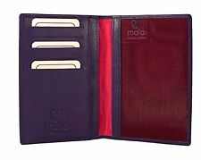 Quality Soft Purple Mala Leather Travel Passport & Card Holder Wallet  556 P