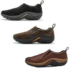 Merrell Jungle Moc Leather & Suede Shoes in Black & Brown