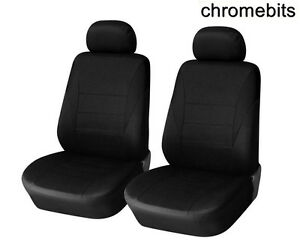 Opel Combo Vivaro Movano Airbag Compatible Pair Of Black Seat Covers