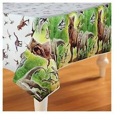 Jurassic World Large Plastic Reusable Tablecloth Boys Table Birthday Party Green