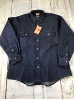 NEW Red Kap Men's Deluxe Denim Western Work Shirt - Long Sleeve - Uniform SD78DN
