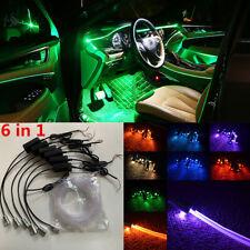 64Colors 6 LED Car Ambient Atmosphere Decoration Light Remote APP 8M Optic Fiber