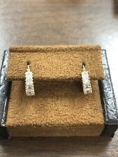 Zirconia Princess Cut Hoop Earrings New listing