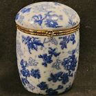 Bloom+Rite+Porcelain+Trinket+Box%2FJar+Blue+White+4%22+Tall+3%22+Diam.
