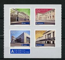 Switzerland 2016 MNH Swiss Railway Stations 4v S/A Set Architecture Stamps