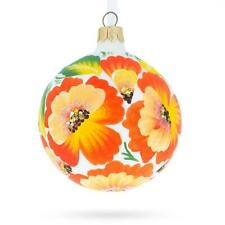 Poppies Glass Christmas Ornament 3.25 Inches
