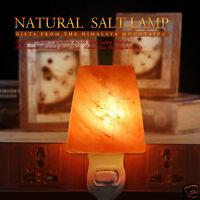 Natural Himalayan Rock Crystal Salt Lamp Air Purifier Night Light USB plug