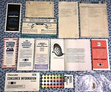 1978 CORVETTE OWNERS MANUAL + MSRP WINDOW STICKER OEM SET EXTRAS! L48 350 V8 A+