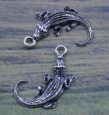 Free ship 20pcs retro  style Lovely crocodile alloy charms pendants 27*17mm