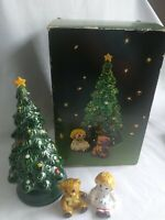 Vintage Avon Ceramic Merry Christmas Tree Hostess Set. B17