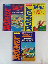 LOT OF 3 Goscinny & Uderzo ASTERIX Book 30, 32 & 35 Hodder & Stoughton