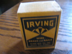 "Irving Wire Brads & Nails 1/4 Pound Flat Head 1"" Long   1X17   Lot# DN BLK SH"