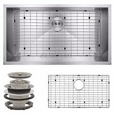 "18"" x 30"" x 9"" Undermount Stainless Steel Single Bowl Kitchen Sink w/ Drain Grid"