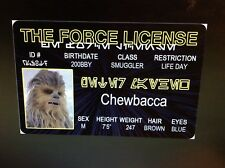 Star Wars Chewbacca Peter Mathew fans fake Id i.d card Drivers License