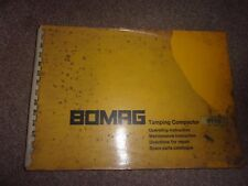 BOMAG Tamping Compactor BT70 Operating Instructions,Maintenance,Parts Catalogue