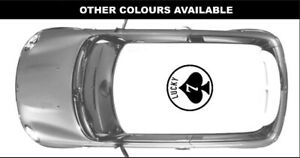 LARGE Lucky 7 Ace Decal Mini Cooper / Van / Clubman - roof / bonnet
