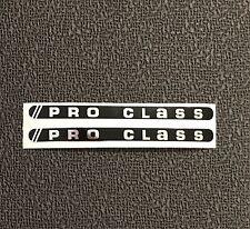 PRO CLASS Crank  Decals , Chrome on Black background - 1 pair