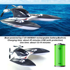 RC Boat Toy Ship High Speed For Pools Lakes Waterproof Rowing 2.4GHz Racing