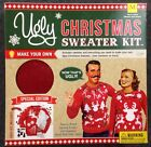 Christmas Ugly Sweater Craft Kit Mens Size Medium Womans Small Red White