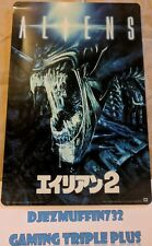 ALIENS JAPANESE POSTER METAL SIGN REPLICA (ANNIVERSARY LOOT CRATE) 9X6
