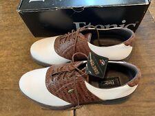 New Etonic All Performance Men's Golf Shoes Size 13 Gortex Soft Spike Waterp