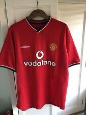 Manchester United Home Shirt 2000-2002 Medium Vodafone Umbro Excellent Cond