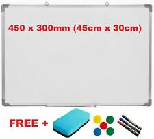 MAGNETIC WHITEBOARD DRY WIPE DRAWING WHITE BOARD OFFICE SCHOOL HOME 450MM x300MM