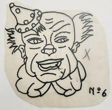 vintage original 50s floyd samson circus tattooing tattoo flash clown stencil